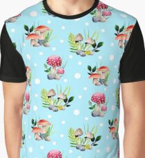 Colorful Mushrooms Graphic T-Shirt