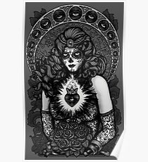 Sugarskull Catrina Bride Calaca / BW Poster