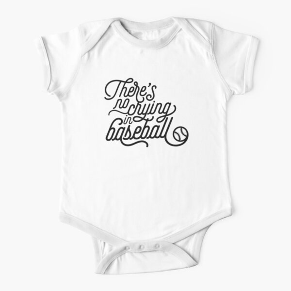 There's No Crying in Baseball Short Sleeve Baby One-Piece