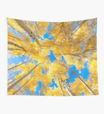 golden aspen tree autumn Wall Tapestry