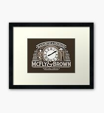 McFly and Brown Framed Print