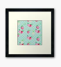 Pastel Strawberries and Polka Dots Framed Print