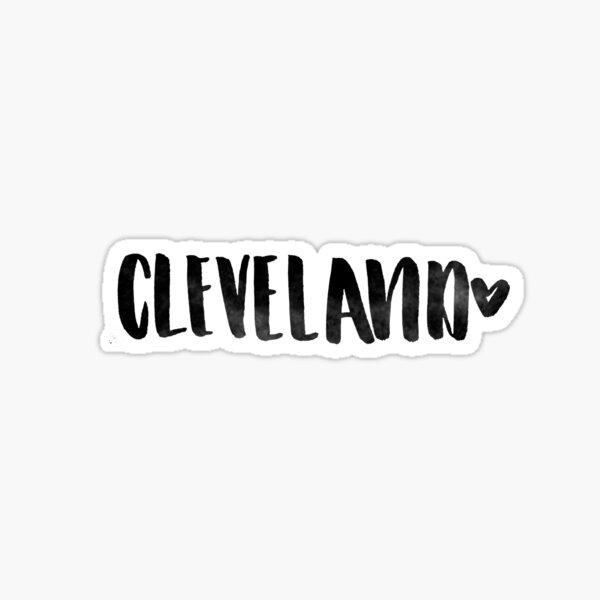 Cleveland Heart Mug Sticker