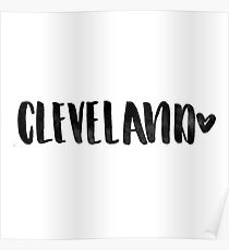 Cleveland Heart Mug Poster
