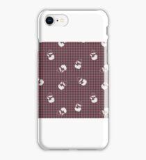 Red Buffalo Check Snowman  iPhone Case/Skin