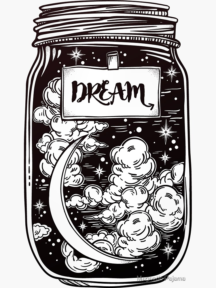 """""""Dream in a Jar"""" Clouds, Moon and Stars by MagneticMama"""