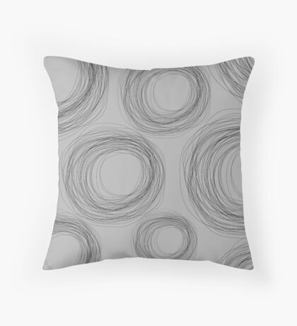 Circle Scribbles Throw Pillow