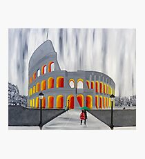 A Stroll by the Colosseum Photographic Print