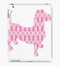 Breast Cancer Awareness Dachshund iPad Case/Skin