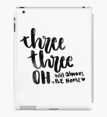 three three oh home iPad Case/Skin