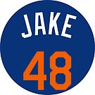 """Jacob DeGrom """"Jake"""" by fallouthartley"""
