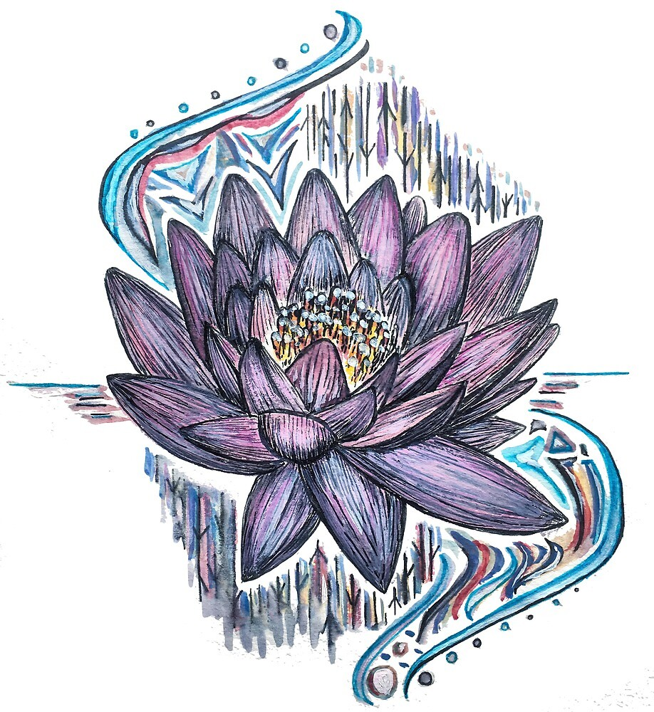 Lotus Flower By Julia Real Redbubble