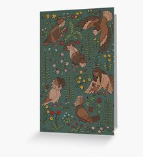 Harpies and flowers Greeting Card