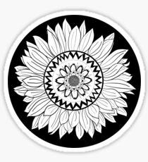 Sunflower small mandala sun Sticker