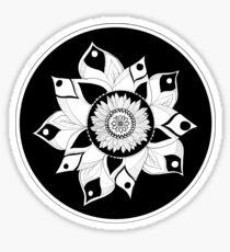 Sunflower large mandala  Sticker