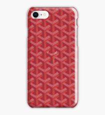 Goyard Red Patt iPhone Case/Skin