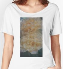 Mosaic Yellow Flowers Women's Relaxed Fit T-Shirt