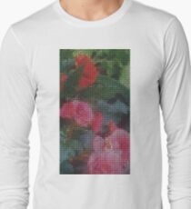 Mosaic Style Pink Flower Tiles T-Shirt