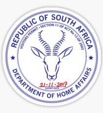 Passport Stamp - South Africa Sticker