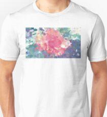 Oil Paint Pink Flower T-Shirt