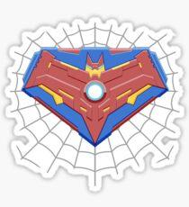 Superspiderbatiron-man Comicbook Superhero Logo Sticker