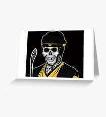 2theDeath Hockey Greeting Card