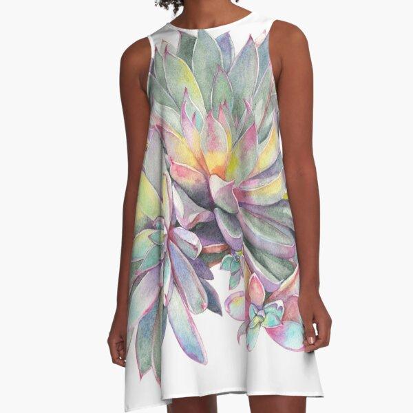 Succulent #2 A-Line Dress