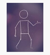 Stickmen cartoon Photographic Print