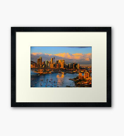 Amber Light - Moods of A City - The HDR Series Framed Print