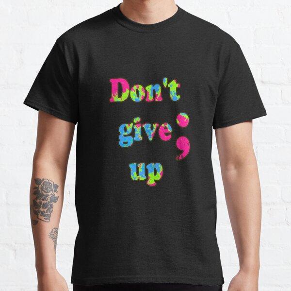 Neon Semikolon Motivational Classic T-Shirt