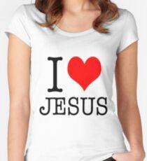 I love jesus shirt Women's Fitted Scoop T-Shirt