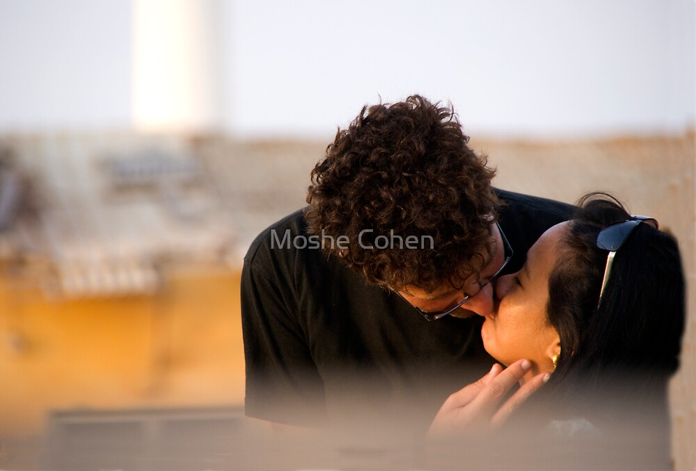 The kiss by Moshe Cohen