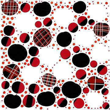 Plaid Patterned Dots by ImaginingThis