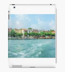 Oil Painting; The Landscape View of Canal and City in Venice, Italy iPad Case/Skin