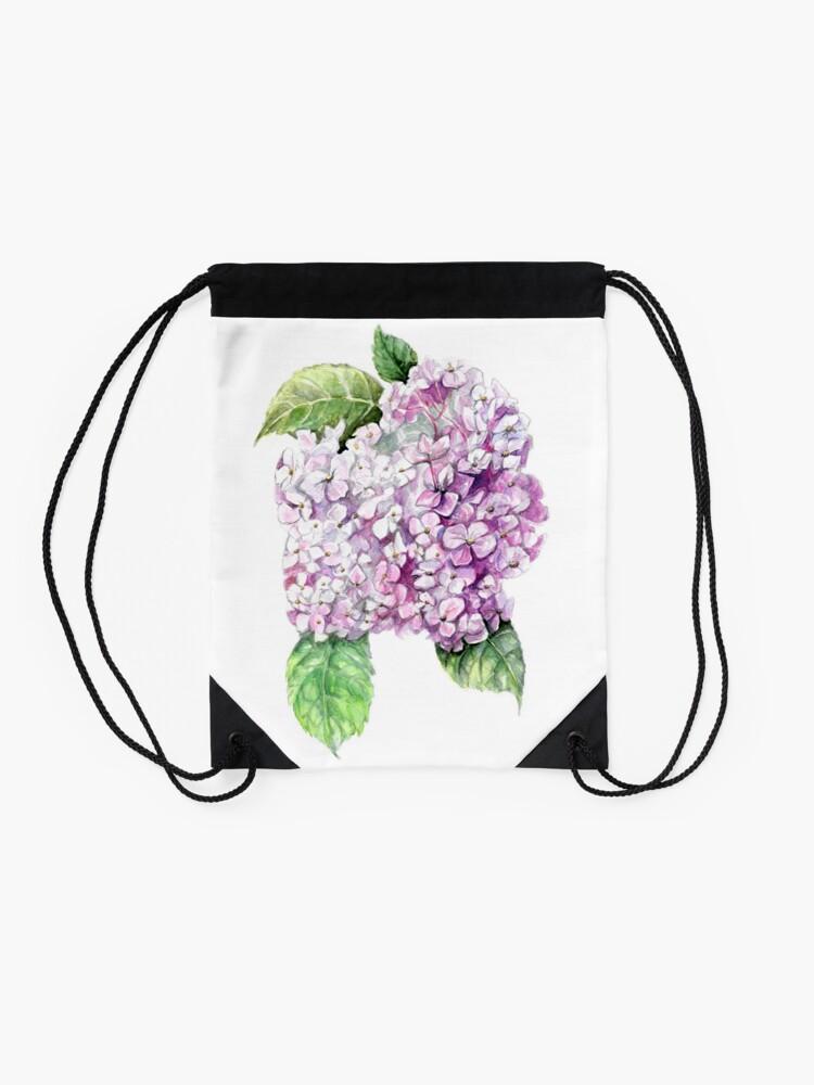 Alternate view of Hydrangea  Drawstring Bag