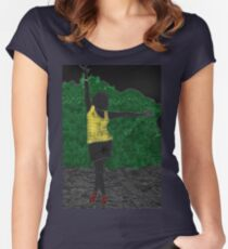 Dancing Girl Women's Fitted Scoop T-Shirt
