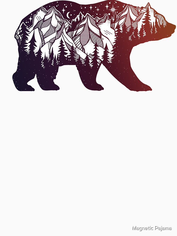 California Bear with Mountains Landscape by MagneticMama
