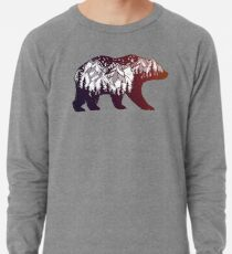 California Bear mit Bergen Landschaft Leichtes Sweatshirt
