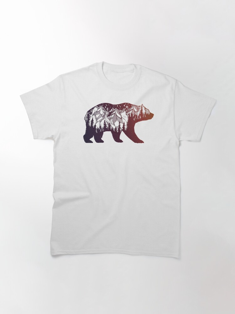 Alternate view of California Bear with Mountains Landscape Classic T-Shirt