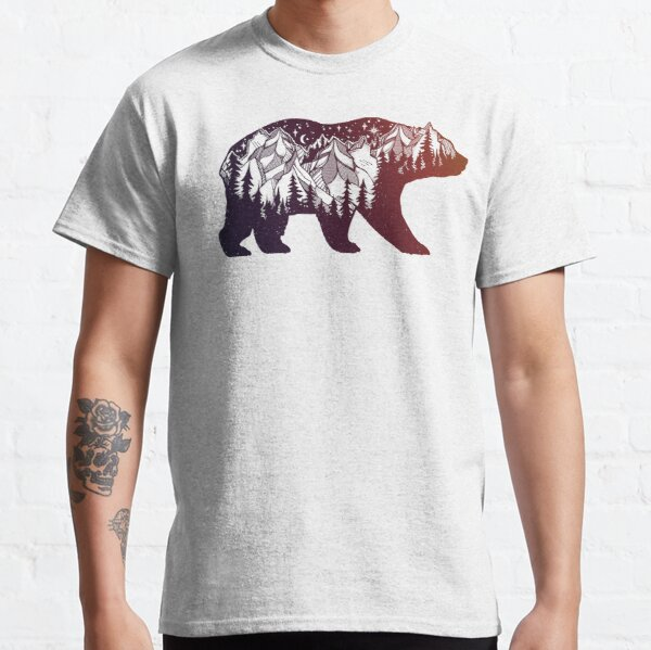 California Bear with Mountains Landscape Classic T-Shirt