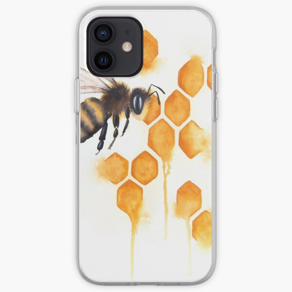 Honey Bee Watercolor iPhone Soft Case