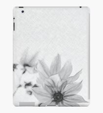 Charcoal Drawing; Fully Bloomed Pink Dahlia Imperialis at Garden in November iPad Case/Skin