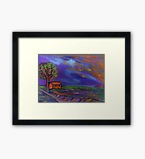 The landscape  Framed Print