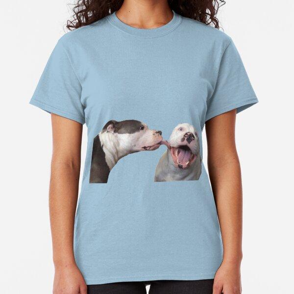 pitbull1 licks pitbull 2  Classic T-Shirt