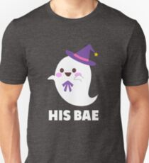 His Bae Cute Ghost Matching Halloween Funny Gift For Her T-Shirt