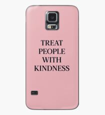 Treat People With Kindness (Black/Pink) Case/Skin for Samsung Galaxy