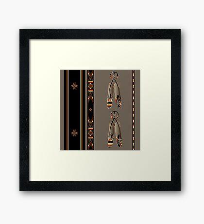 Lakota Design Framed Print