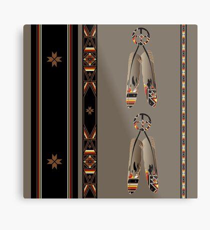 Lakota Design Metal Print
