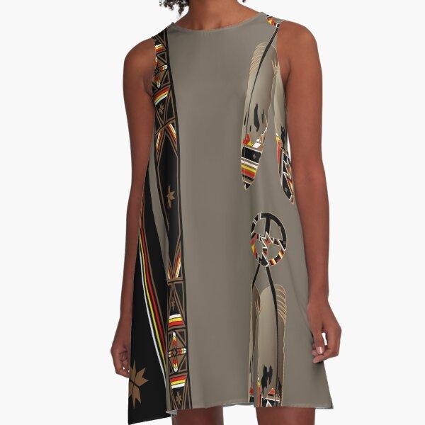Lakota Design A-Line Dress