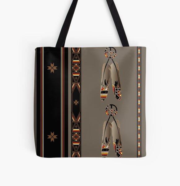 Lakota Design All Over Print Tote Bag